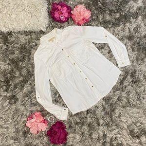 MICHAEL Michael Kors Button Up Shirt Women size 8